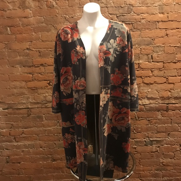 NWT Womens CATHERINE MALANDRINO Brown Spring Blazer Jacket Coat Size M Medium